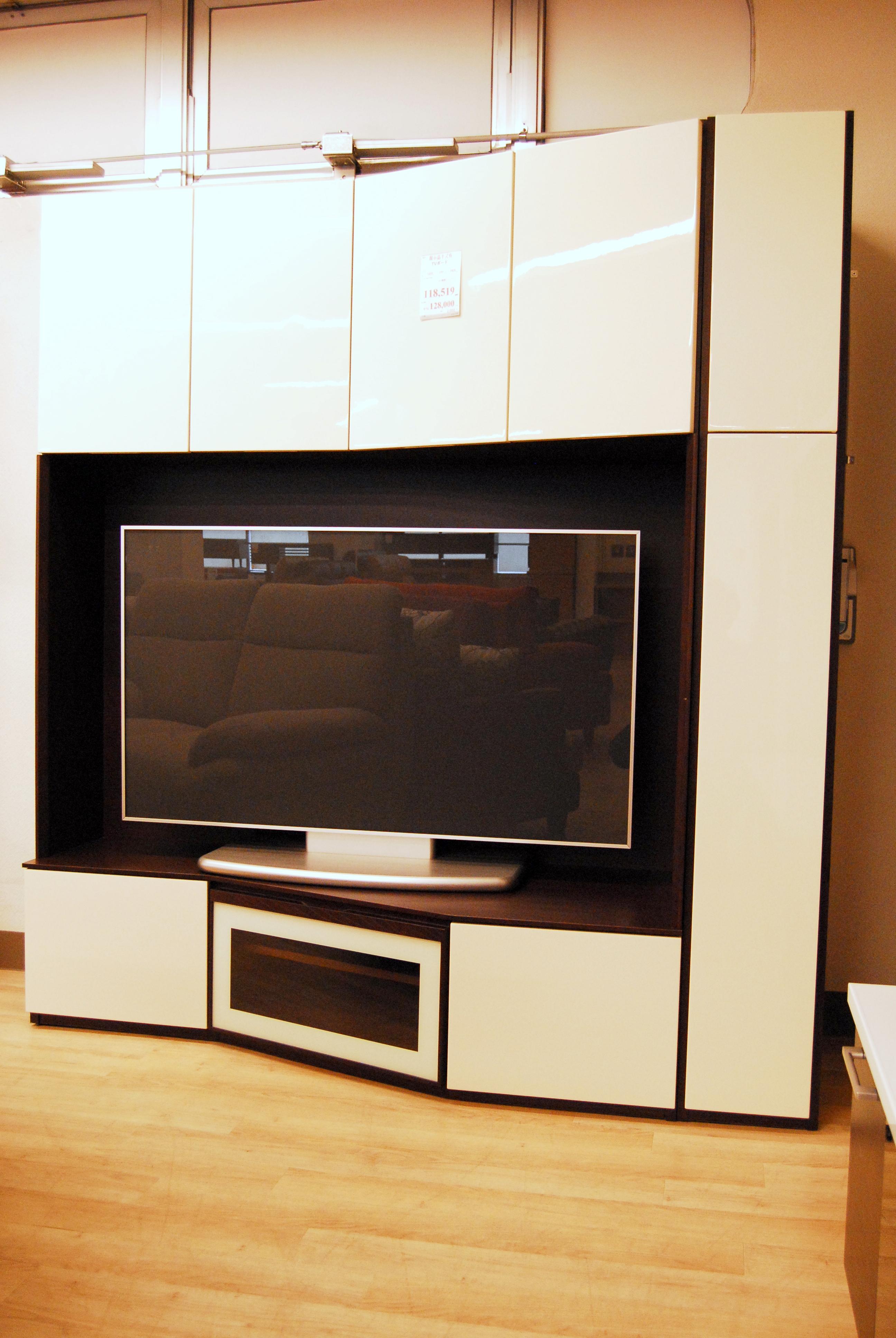 国産のコーナー型大型TVボード